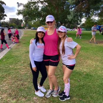Monica, Arianna and Chelsy after the Making Strides Against Breast Cancer Walk